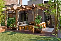 This patio is on the top of a building. Get the same green grass look for yourself.