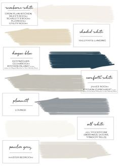 Farrow & Ball Paint Colours in My Home – Just A Little Build - Modern Paint Color Schemes, House Color Schemes, House Colors, Paint Colors, Colour Combinations Interior, Kitchen Colour Schemes, Interior Colors, Paint Colours For Hallway, Living Room Paint Colours