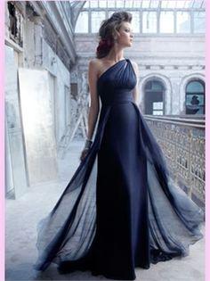 Floor-Length One Shoulder Chiffon Bridesmaid Dress