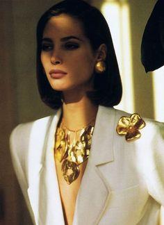 1990 - Saint Laurent Rive Gauche adv - Christy Turlington | www.recollectvint... Women's Jewelry - amzn.to/2j8unq8