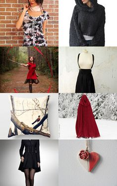 """""""howl"""" by Lix Hewett - Etsy finds that remind me of Red Riding Hood."""