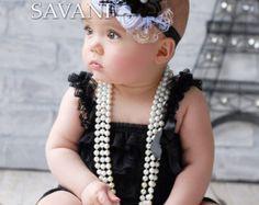 0f9f65c55912 White petti romper. Shabby Chic HeadbandsVintage HeadbandsBaby Girl  HeadbandsPetti RomperLace ...