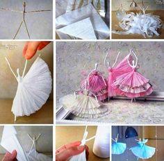 Paper Napkin Ballerinas Cute Craft Video