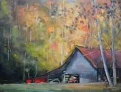 Contemporary Artists of Florida: Painting on Sale, Barn Oil Landscape, Daily Painting, Halfway Up the Mountain by Carol Schiff, Original Oil On Canvas, Canvas Prints, Cottage Art, Daily Painters, Contemporary Artists, Painting Inspiration, Art For Sale, Fine Art America, Original Art