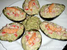 AGUACATES RELLENOS Diet Recipes, Sushi, Cooking, Ethnic Recipes, Foods, Diets, Tapas, Website, Gastronomia