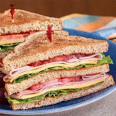 All-American Deli Club Sandwich Recipe from Land O'Lakes