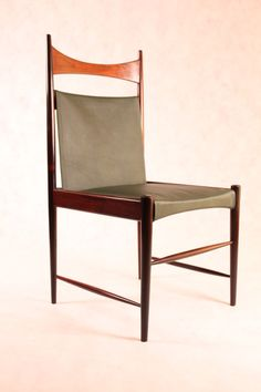 Sergio Rodrigues; Jacaranda and Leather Dining Chair, 1958.