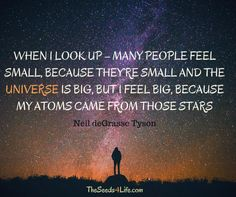 #quote #life #universe #stars #atoms #neil degrasse tyson #space