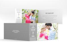 """Hochzeitseinladung """"Confessa"""" in grau mit eigenem Foto"""