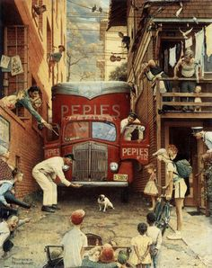 Norman Rockwell Best Paintings Ever | Norman Rockwell's Roadblock (1949)