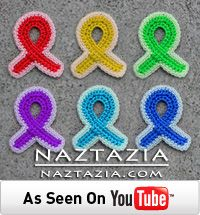 Free Pattern - Crochet Awareness Ribbons Refrigerator Magnets for Breast Cancer and Other Causes by Naztazia