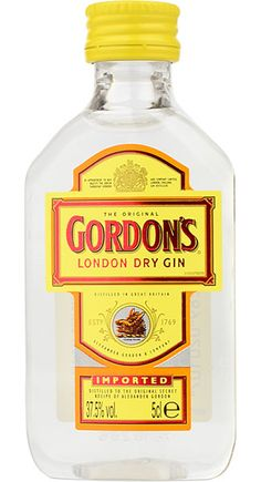 Gordons London Dry Gin Imported Miniature - Buy Online at Drinks Direct.co.uk