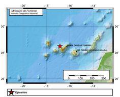 Terremoto noroeste Tenerife, 1 agosto, Atlántico Canarias