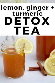 Daily detox lemon, ginger & turmeric tea - Health and Wellness - Smoothies, Smoothie Detox, Detox Tea Diet, Cleanse Detox, Juice Cleanse, Detox Tee, Stomach Cleanse, Health Cleanse, Body Cleanse Diet