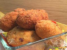 Crocchette di patate ripiene di piselli e mozzarella #ricette #food #recipes