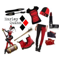 """Harley Quinn (casual)"" by allena-marie on Polyvore"