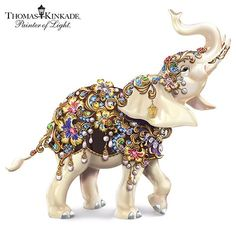 Shop great selection of rare Thomas Kinkade gifts and collectibles at The Bradford Exchange. We have Exclusive collection of art of Thomas Kinkade featuring on Limited Edition collectibles, Paintings, Home Decor and more. Ceramic Elephant, Elephant Love, Elephant Art, Elephant Stuff, Elephant Quotes, Ivory Elephant, Happy Elephant, Elephant Parade, Giraffe