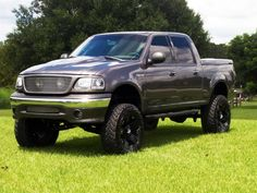 Love the behind the grille lights Ford F150 Custom, Ford 4x4, Ford Bronco, Lifted Ford Trucks, Dump Trucks, 2003 F150, Off Road Bumpers, Svt Raptor, Trucks And Girls