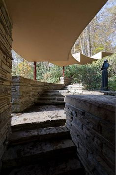 Fallingwater / Kaufman Residence. 1936-9. Bear Run Creek in Mill Run, Pennsylvania. Frank Lloyd Wright.