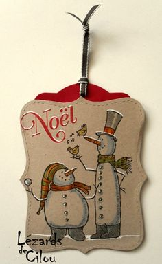 Snow Much Fun Stampin' UP! SU!  What a difference a little bit of white gel pen makes!