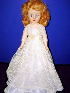 "Vintage 1950s NANCY ANN  10"" Fashion BRIDE DOLL in Tagged Gown #NancyAnn #Dolls"
