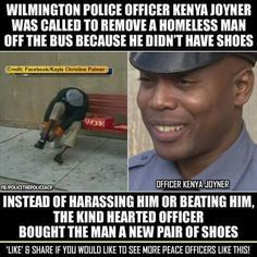 More police officers need to be like this. Take a stand for change.