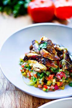 Israeli Salad by feastingathome: Summer in a bowl. #Salad #Pepper #Onion #Cucumber #Tomato