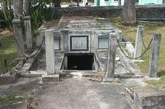 "The Chase Vault is a burial vault in the cemetery of the Christ Church Parish Church in Oistins, Christ Church, Barbados best known for a widespread legend of ""mysterious moving coffins"". According to the story, each time the heavily sealed vault was opened in the early 19th century for burial of a family member, all of the lead coffins had changed position."