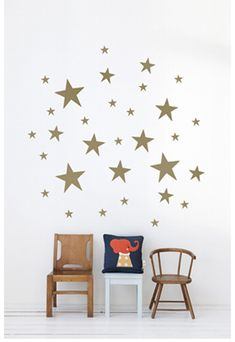 like the stars on the wall. Nice touch.