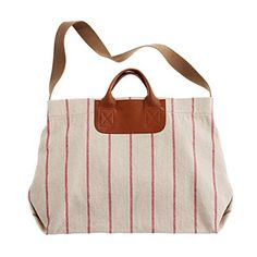 Madewell striped caravan mailbag. but at $82, I might just make it myself...