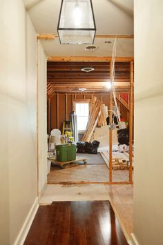 Demo & wall framing to create a whole new room