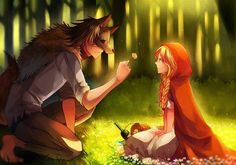 The wolf fell in love with the little Red Riding Hood