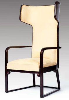 Fauteuil à 'Oreilles' - Hêtre - Josef Hoffman - Design de 1905