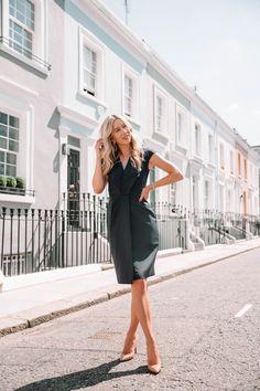 d556ac7efbd16 she goes wear reiss navy fenton tailored dress blue pencil dress london workwear  office style officewear