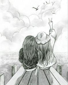 """""""Você consegue ver o fim do céu???"""" """"Não , pq??"""" """"Então , se parece com nossa amizade nunca vamos ver o fim"""""""
