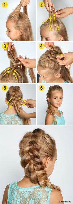 Easy Little Girl Hairstyles, Baby Girl Hairstyles, Fast Hairstyles, Easy Hairstyles For Long Hair, Hairstyles For School, Trendy Hairstyles, Braided Hairstyles, Short Haircuts, Childrens Hairstyles