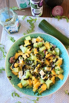 Barbecue, Bbq Salads, Feta, Bbq Meat, Fruit Salad, Salad Recipes, Food And Drink, Dinner, Cooking