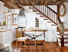 cozy cottage kitchens — and what they taught us about small-space living! Farm Kitchen Ideas, Rustic Kitchen, Small Cottage Kitchen, Country Kitchen, Kitchen Decor, Kitchen Design, Cozy Cottage, Cottage Homes, Cottage Living