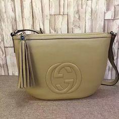 de02f24f85bd Gucci Soho Leather Shoulder Bag Apricot 308361 Gucci Shoulder Bag, Leather Shoulder  Bag, Shoulder