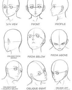 Manga Drawing Tips Drawing Tips Face shape Drawing Heads, Painting & Drawing, Drawing Face Shapes, Drawing Drawing, Face Proportions Drawing, Facial Proportions, Painting Lessons, Body Painting, Art Drawings Sketches