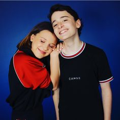Millie Bobby Brown and Noah Schnapp. Strangercon in New Jersey