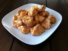 Though the recipe I found for these calls them Cheetos, I would more accurately call them Cheesy Puffs. They don't necessarily taste...