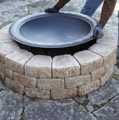 A Quick and Easy Do It Yourself Firepit Surround.  Pinning this idea for our summer  fire pit nights coming up 2013.