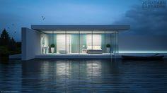 Una sera nella casa sul lago, architectural visualisation, personal project…