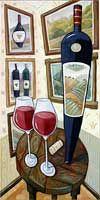 Charles Kaufman colorful art. Catalog: Limited-editon Giclée prints on canvas - wine