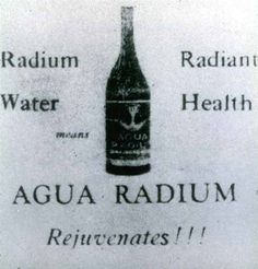 Ah, nothing like water mixed with a little radium to get you going
