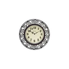 Wall Clock Black Wrought Iron Home House Decor Watch Kitchen Room Living New