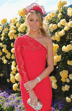 Jennifer Hawkins at the Myer marquee Melbourne Cup 2013