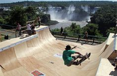X Games in Foz do Iguaçu. That's not a bad view!