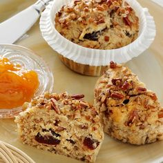 We've got a delightful variation of your favorite muffin recipe — topped with pecan chips for extra nutty goodness!